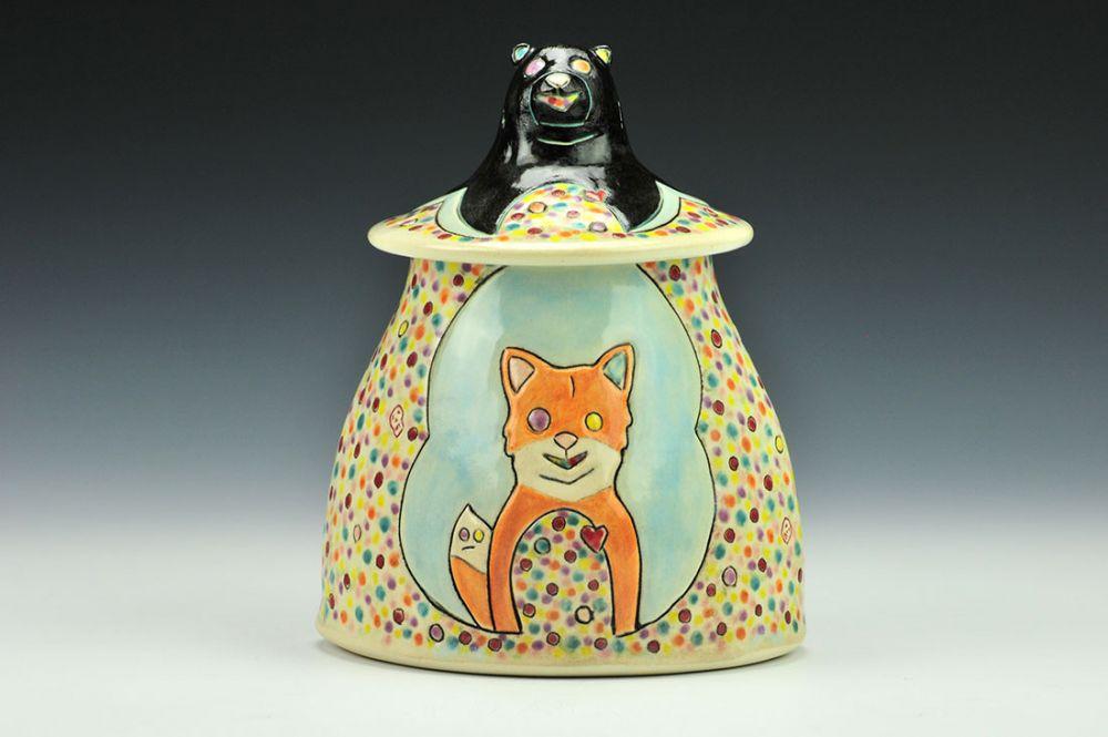 Marbleful Bear and Bun Medium Jar