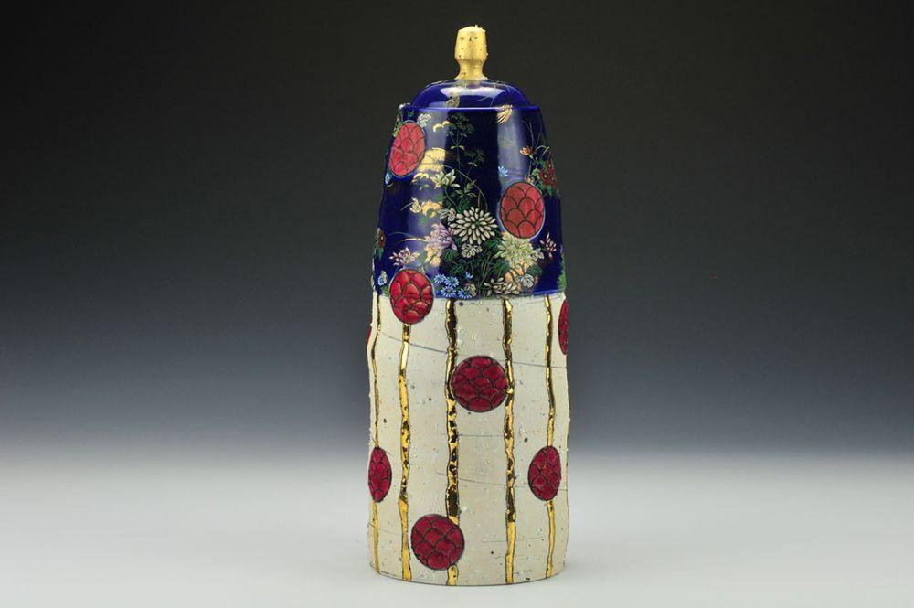 Cobalt Imari Red 'n' Gold Jar