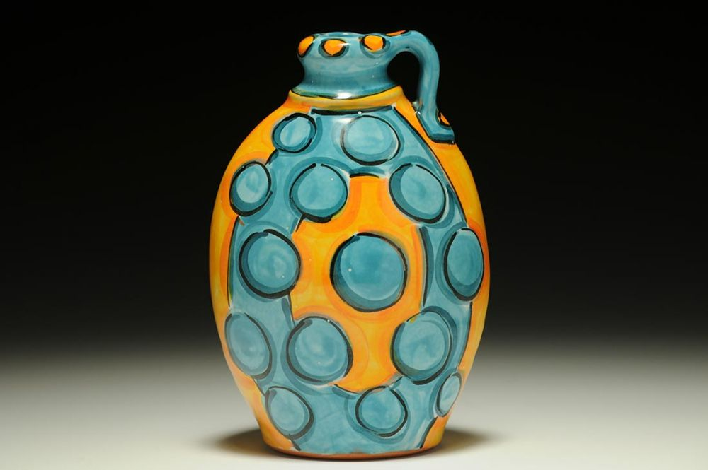 Jug with Orange and Turquoise Dots