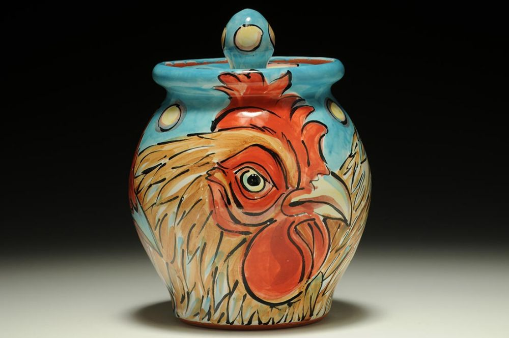 Jar with Chickens