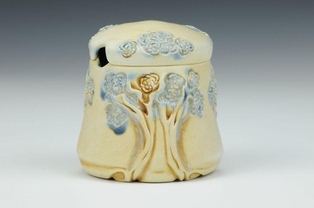 Small PomPom Tree Jar/Honey Pot
