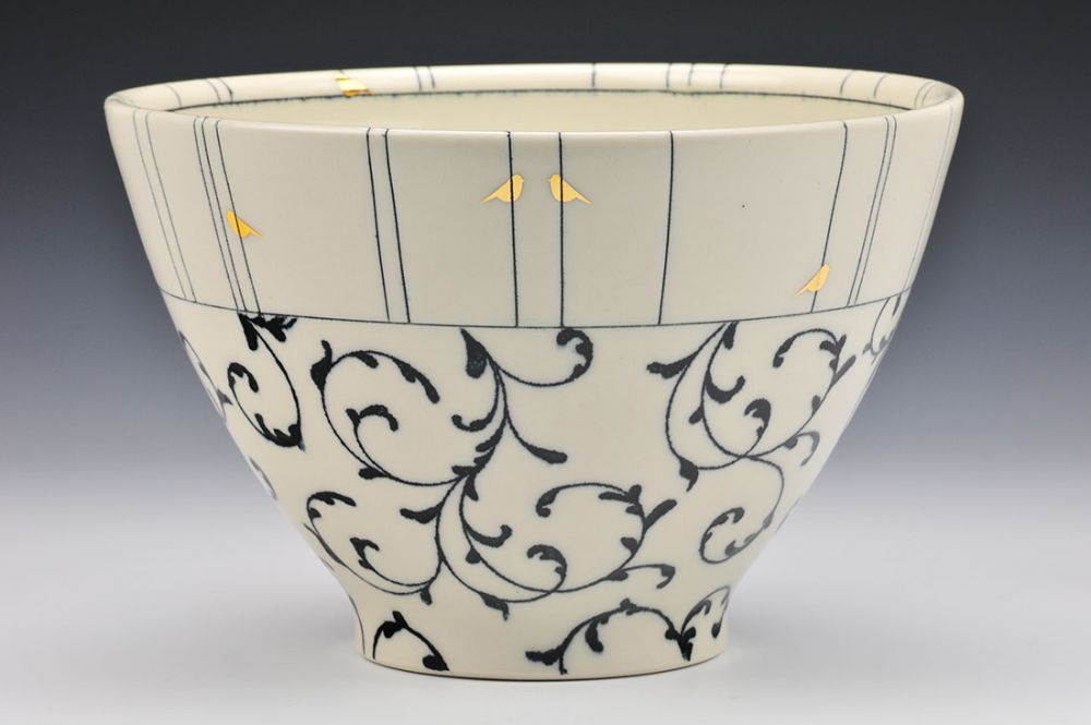 Ivy and Birds Bowl
