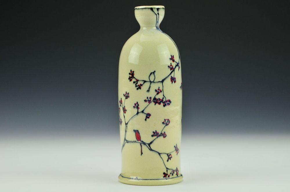 Cherry Blossom Sake Bottle