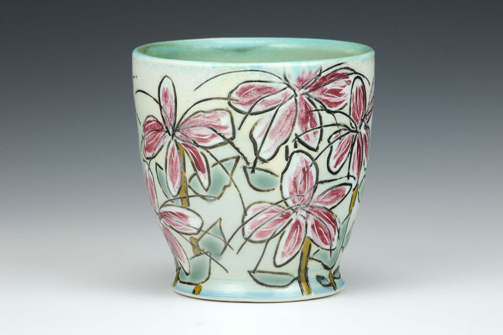 Butterfly Flowers Cup