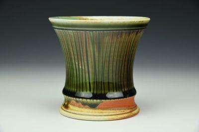 Ridged Celadon Jar