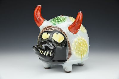 Money Bank with Dots and Horns