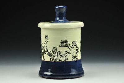 Birthday Party Midnight Blue Jar