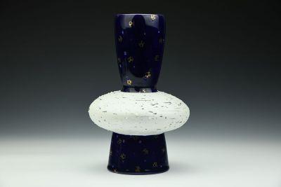 Cobalt Drilled Bulb Vase