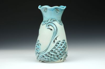 Tall Swan Vase