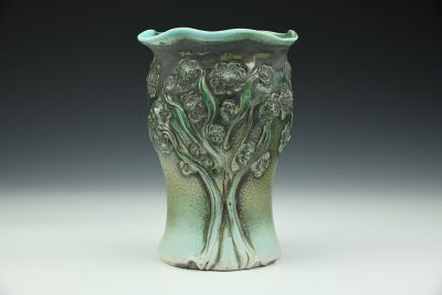 PomPom Tree Vase Smoky Spearmint