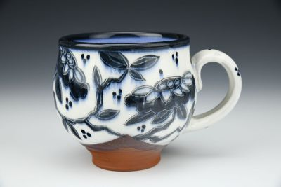 Mug with Black and White Tree of Life