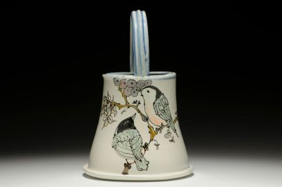 Nuthatch Basket Vase