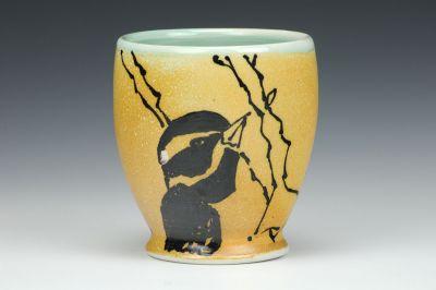Chickadee and Woodpecker Cup