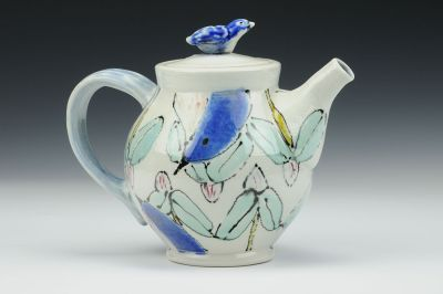 Bluebirds and Rosebuds Teapot