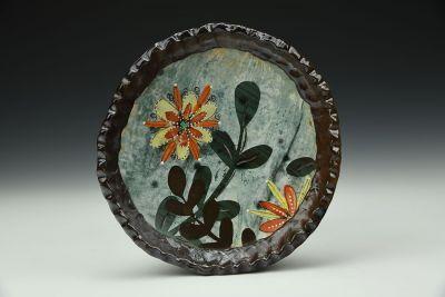 Orange Flower Power Plate