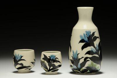 Gentian Sake Set