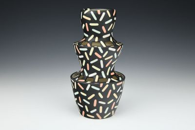 Sprinkled Tiered Vase