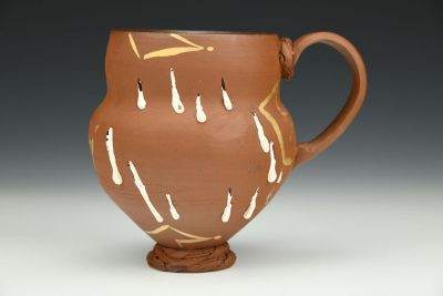 White Drips and Gold Luster Crown Mug