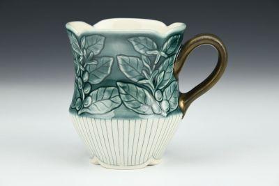 Teal Coffee Plant Mug