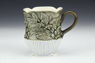 Grey Coffee Plant Mug