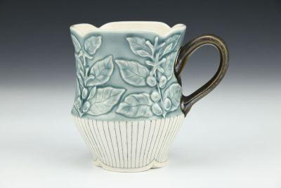 Blue Coffee Plant Mug