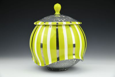 Green Striped Jar