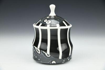 Small Black Jar