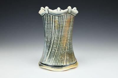 Large Scalloped Vase