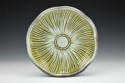 Striped Snack Plate