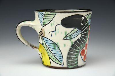 Snake and Apple Mug