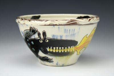 Black Dragon Small Bowl