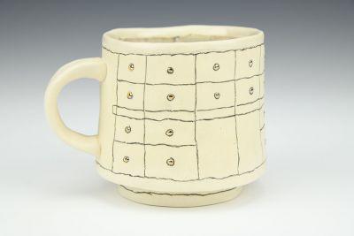 Gold Grid Mug 1