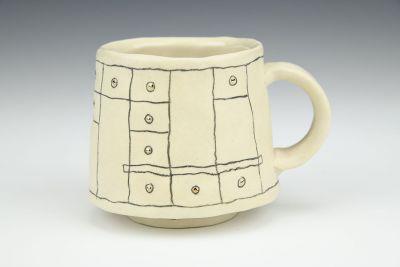 Gold Grid Mug 3
