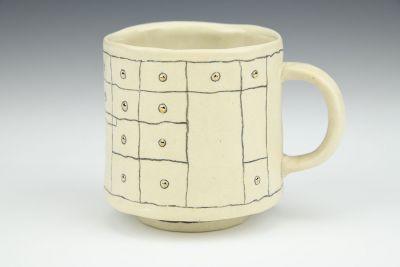 Gold Grid Mug 4
