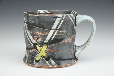 14oz. Black X-Type Mug