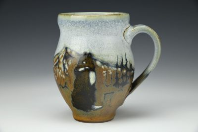 Mountain Foxes Playing Diner Mug