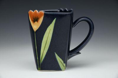 Dark Blye Square Mug