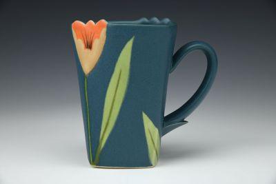 Turquoise Square Mug