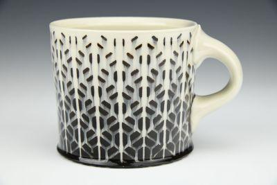 White Trapezoids Mug