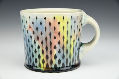 Rainbow Raindrops Mug 1