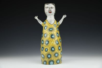 Garden Girl Vase Two Faces
