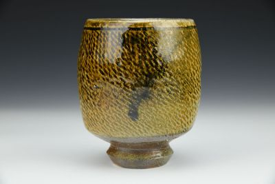 Amber Cup with Rope Impression