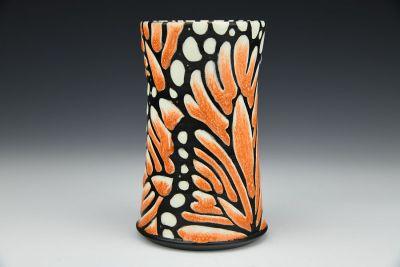 Orange Monarch Tumbler
