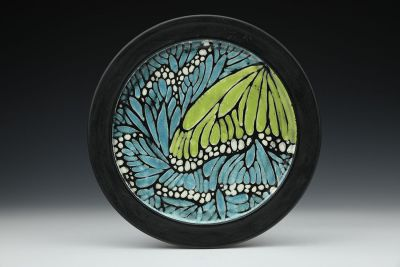 Turquoise Monarch Dinner Plate