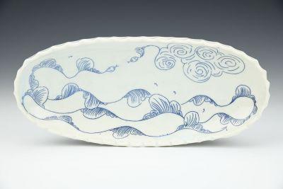Sea Snake, Sky Plate Platter