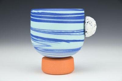 Blue Swirl Nub Cup