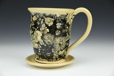 Chrysanthemum Mug and Saucer Set
