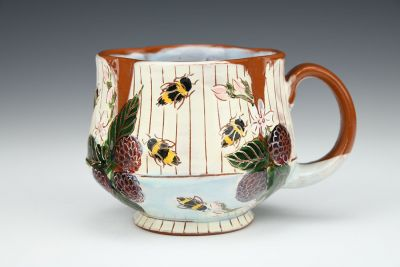 Bees, Berries, and Blossoms Mug