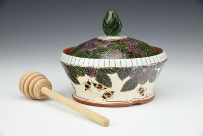 Blackberries and Bees Honey Pot