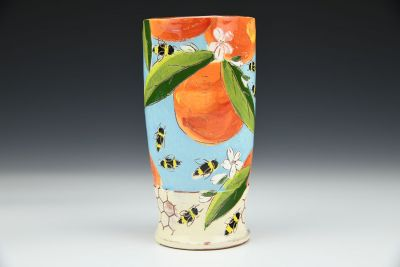 Orange Blossom and Honeycomb Tall Cup